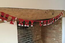 2m Father Christmas Pants Bunting Merry Christmas Gisela Graham Garland Felt