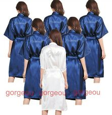 Satin Silk Long Personalized Wedding Robe Bridesmaid Bride Mother Dressing Gown