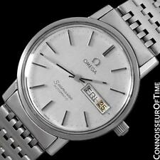 1980 OMEGA SEAMASTER Mens Watch, Automatic, Quick-Set Day & Date - SS Steel
