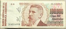 Argentinia 100000 australes VF serie A P.336