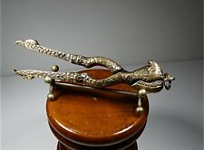 UNUSUAL NUTCRACKER  CHAMELEON IN SOLID BRASS ANTIQUE