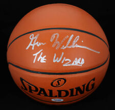 Gus The Wizard Williams SIGNED I/O Basketball Supersonics PSA/DNA AUTOGRAPHED