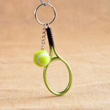 GREEN TENNIS RACQUET & BALL - Key Ring