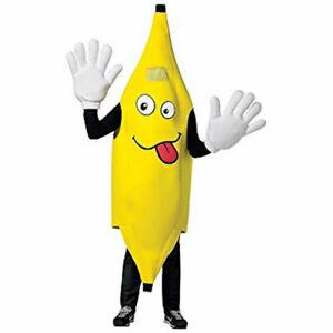 Rasta Imposta Adult Waver Mascot Cartoon Costume - Banana w/ Yellow Hands