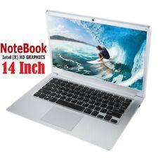 "14"" Slim Notebook Laptop 2GB Ram Quad Core 1.92Ghz Intel 32GB eMMC HD Windows 10"