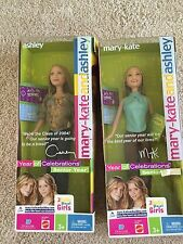 MARY-KATE AND ASHLEY DOLLS Year of Celebrations: Senior Year Mattel 2003 NRFB