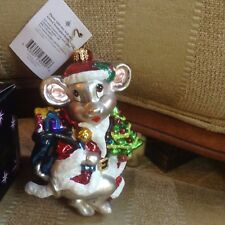 Christopher Radko Mouse Stirring Tonight Ornament Nwt In Box