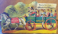 The Moline Wagon Company IL Illinois Black Americana Man Kids Adv Counter Sign