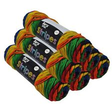 Stripes Acrylic Yarn 100g 150m 8ply Primary