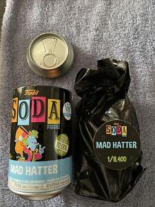 Funko Soda! -Mad Hatter - (Black Light) -COMMON - Funko Shop Exclusive
