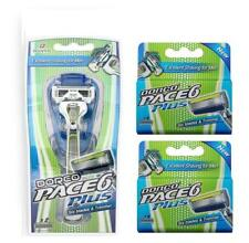 Dorco Pace 6 Plus - Six Blade Razor -   1 Handle + 10 refill Cartridges