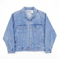 Vintage BILL BLASS Faded Blue Casual Customised Denim Jacket Womens Size Medium