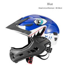RockBros Kid's Full Face Helmet Ultralight Safety Motorcycle Bike Helmet Blue