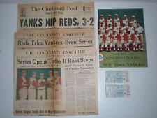 1961 World Series Game 4 Ticket Stubs Program Cincinnati Reds NY Yankees Lot Set