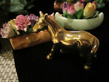 Antique 24Kt. Gold Plated Animal Horse Miniature Figure ~ BEAUTIFUL Treasure!