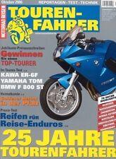 TF0610 + Vergleich BMW F 800 ST vs. KAWASAKI ER-6f vs. YAMAHA TDM 900 A