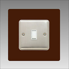 Light Switch Surround Single 3mm clear Acrylic Finger Plate Plug Socket