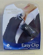 Easy Clip iXchange Retractable DECT GAP Compatible Cordless Headset - NEW
