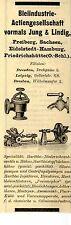 BLEIINDUSTRIE AG vorm.Jung & Lindig Freiberg i.Sa. Historische Reklame von 1908
