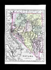 1896 Johnson Map - Nevada - Las Vegas Carson City Lake Tahoe Stillwater Austin