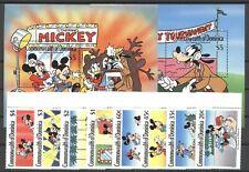 Walt Disney - Dominica - 1268-1275, Bl.158-159 ** MNH 1989