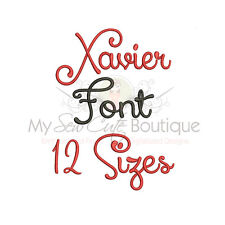 Xavier Alphabet Embroidery Fonts Machine Embroidery Design - IMPFCD50