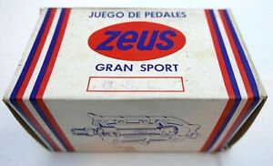 Zeus Gran Sport Quill Pedals for Vintage Road Bike, Boxed, Unused, But.....