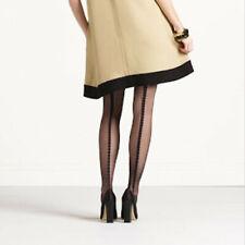 Kate Spade black semi sheer thigh high stockings with backseam S M NWT