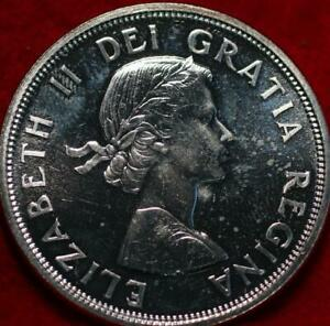 Uncirculated Proof 1964 Canada Silver One Dollar Foreign Coin