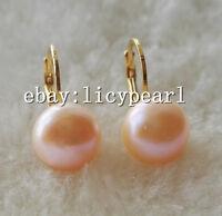 10-11mm weiß rosa Lavendel grau schwarz Süßwasser Perle Hebel zurück Ohrringe