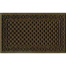 """18""""x 30"""" Brown Door Mat Outdoor Commercial Entrance Floor Mat Rubber Back Rug"""
