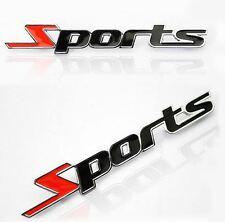 SPORT Badge 3D Metal Logo TSI TDI VTR VVTi VXR Chrome Emblem Sticker Astra Polo