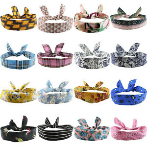 WIRE HEADBAND WIRED HEAD SCARF ROCKABILLY HAIR BAND WRAP VINTAGE PIN UP 50s 60s