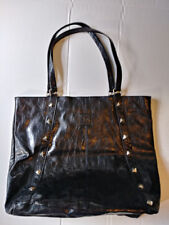 Stone Mountain Large Black Shopping Tote Bag Handbag Studded Fully Lined