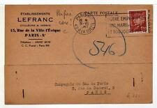 A4786) FRANCE 1942 PC Paris Local Perfin