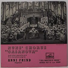 "ANNI FRIND Nun's Chorus Casanova EP 7"" Picture Sleeve 33rpm Vinyl VG+"
