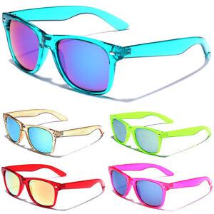 80's Retro Classic Sunglasses Men Women Translucent Glasses Mirror Lens