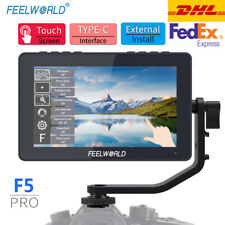 "FEELWORLD F5 Pro Monitor 5.5"" Inch 4K HDMI Touch Screen Video On Camera for DSLR"