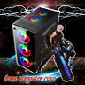 8 Fan Tempered Glass Gaming Computer PC Case For ATX/M-ATX/ITX  ATX HD  a