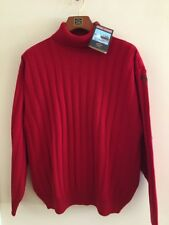 NEW Paul & Shark Yachting Sweater Dolcevita Pullover 100% WOOL 2XL RED