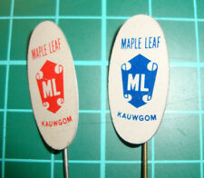 Maple Leaf ML chewing gum pin badge 60's chewing gum speldje kauwgom  vintage