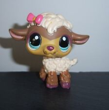 Littlest Pet Shop #1697 Woolma O'Chic Lamb - Brown and White with Blue Eyes