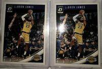 Lebron James 2018-19 Donruss Optic #94 Lot of 2 1st LA Lakers Card mint