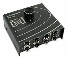 GUT: Hosa Technology SLW-333 Audiosignal Selector Switcher - Gunmetal Grau