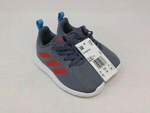 Adidas Boys Toddler Grey/Red Lite Racer CLN Sneakers Size 6K US