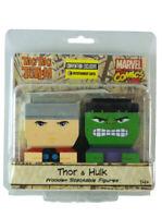 Tiki Totems Marvel Thor & Hulk Figures Set Wooden Stackable Marvel Comics New