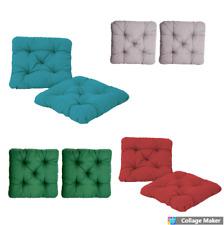2 Seat Cushions Pads 50x50 cm. Indoor Outdoor Garden ,Kitchens, Dining Room
