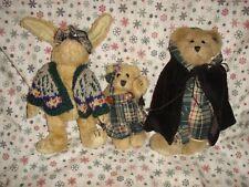 Boyds Bears 1995 Fall Bailey, Emily & Becky Plush
