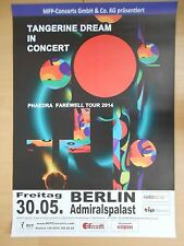 TANGERINE DREAM    2014    orig.Concert-Konzert-Tour-Poster  84 x 60 cm