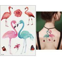Temporäres Tattoo Flamingo Blume Schmetterling Design Klebetattoo Körperkunt